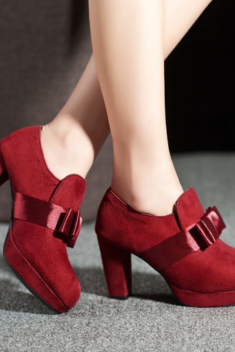 2014 Flowers Round bow heels shoes