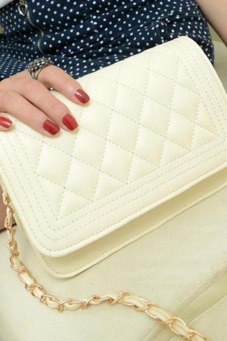 Date night messenger white woman handbag