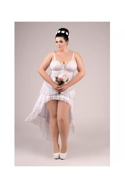 sexy white latex wet look dress big plus queen size bridal wedding dress L XL 2XL 3XL 4XL for bbw erotic lingerie L X 3X 4X 2X EU 42 - 56, UK 10 - 24