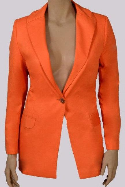 Orange Tailored Blazer