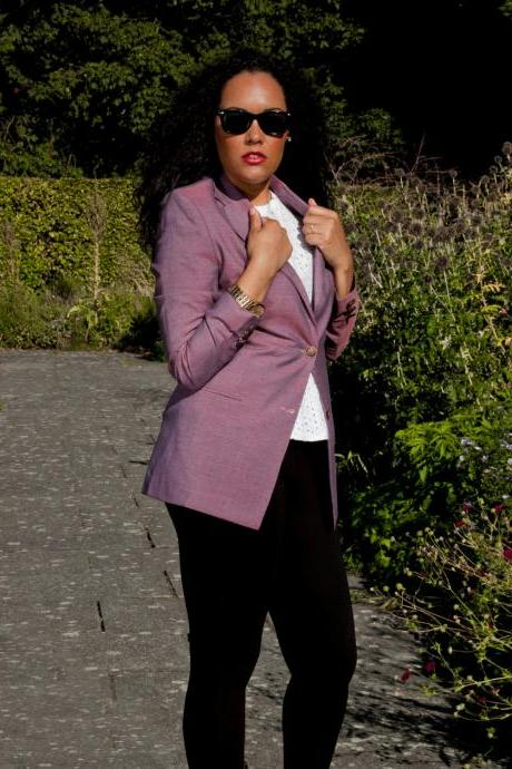 Purple Tailored Blazer
