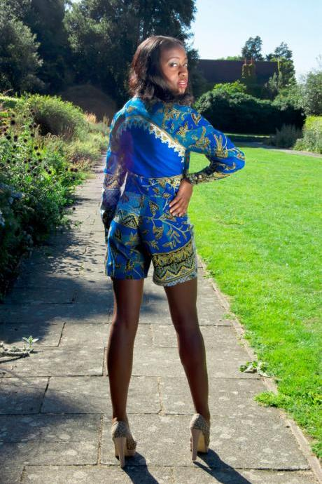 REDUCED!! African Patterned Print Playsuit