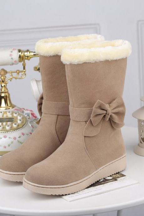 Bow wear warm snow boots OP0108CI