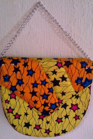 Yellow and Orange Stars Sling Bag