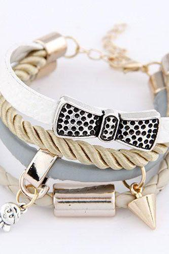 Bow knot fashion cool teen girl bracelet