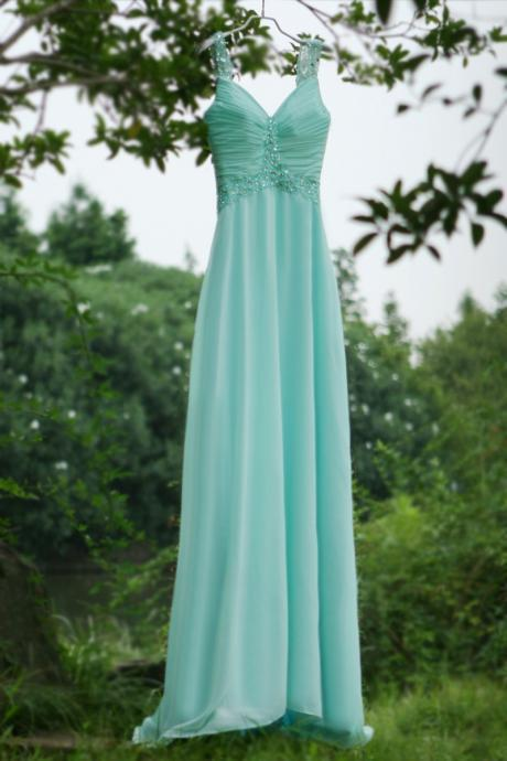 Sexy Backless Sweetheart Blue Beaded Long prom dress Graduation gown 2015