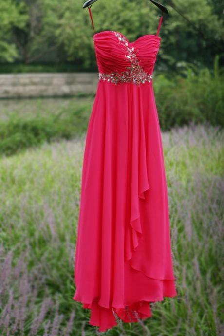 Sweetheart red Beaded Long prom dress Graduation gown 2015,party dress,sepical occassion dress