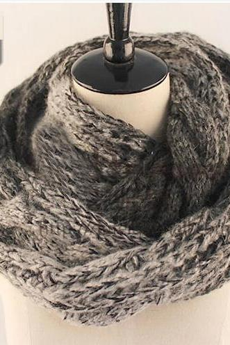 new fashion autumn&winter Scarf,long scarves,Chunky Knitted Infinity Scarf Winter Warm