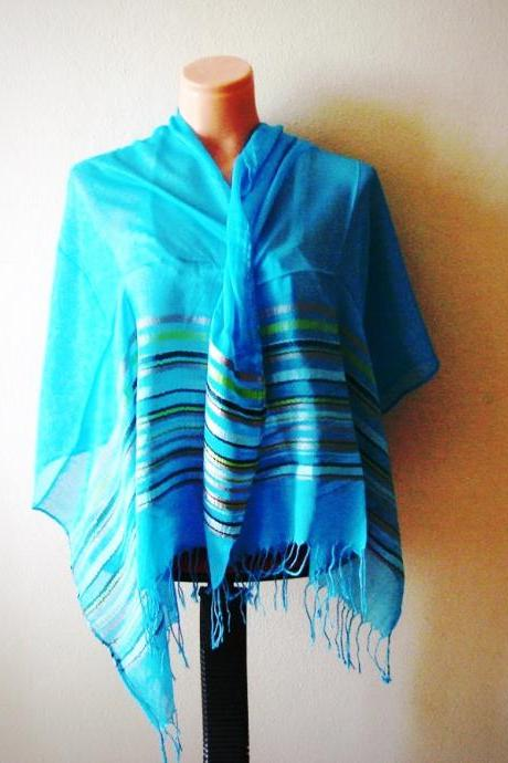 FREE SHIPPING! Turquoise Blue Pareo-Scarf