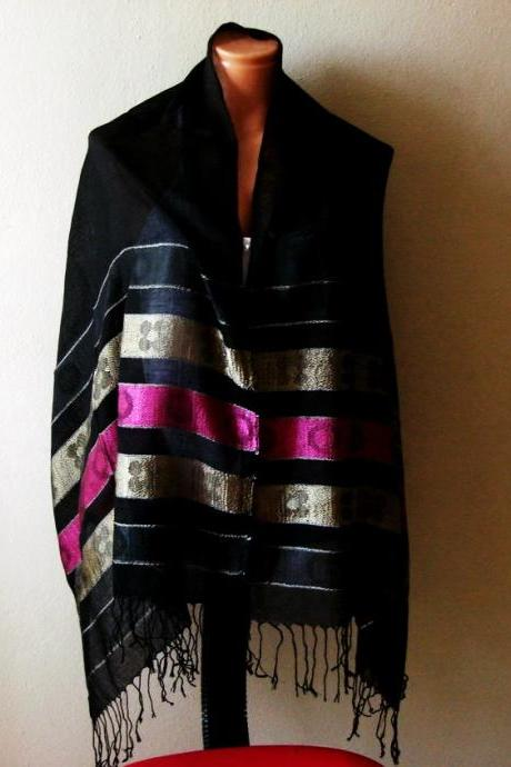 FREE SHIPPING! Black Pareo-Scarf