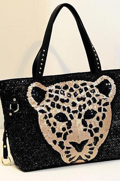 Gorgeous Sequined Black Bag