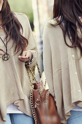 Casual long-sleeved sweater coat GB11410HT