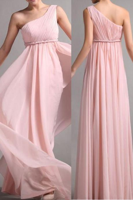 Elegant Bridesmaid Dress Chiffon Bridesmaid Dress Brief One Shoulder Bridesmaid Dress Long Graduation Dress