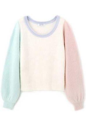 Spell color mohair sweater