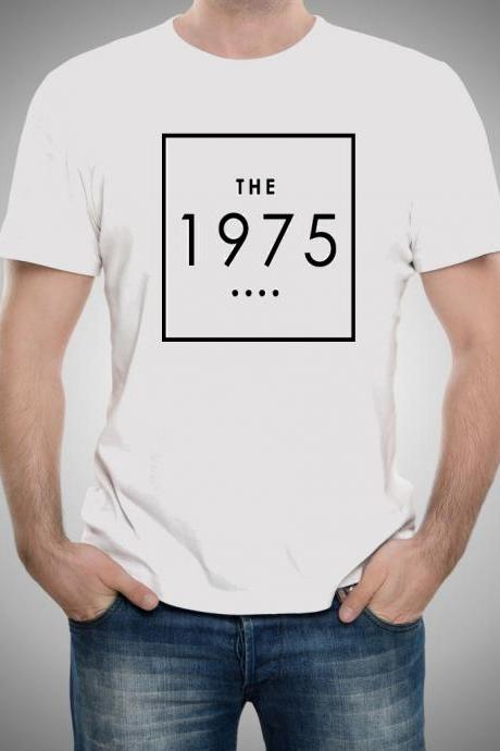 1975 shirt Women White T-Shirt Sleeve Raglan men shirt Gift