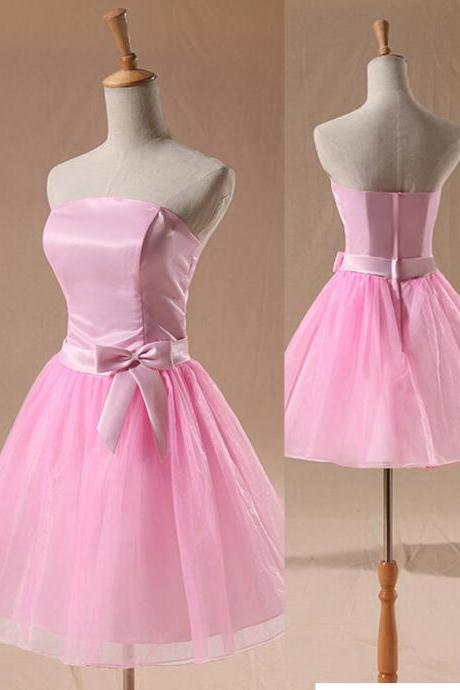 Brief Organza Bridesmaid Dress A-Line Short Bridesmaid Dress Sweetheart Girl Party Dress