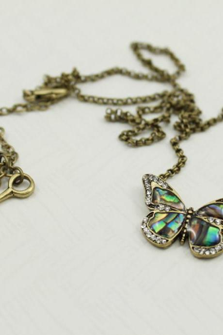 Beautiful butterfly shell necklace
