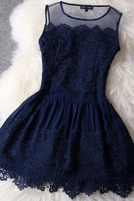 Short Navy Blue Lace Dresses, short navy blue prom dress, lace prom dresses, navy blue graduation dresses, dresses for prom, white lace prom dress, white lace graduation dresses
