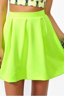 Candy Colored High-Waisted Skirts BH