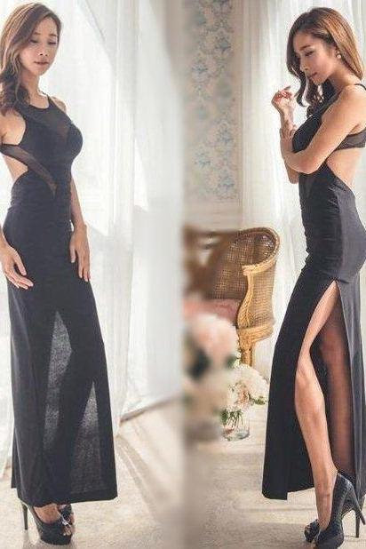 Sexy Halter Stitching Dress