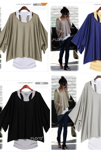 2014 summer new Korean women short Sleeve loose t shirt tops