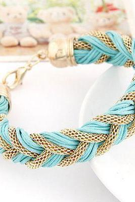 Dress jewelry fashion light blue rope woman accessories bracelet