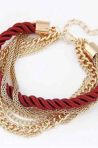 Chain red rope bangle holiday gift girl bracelet