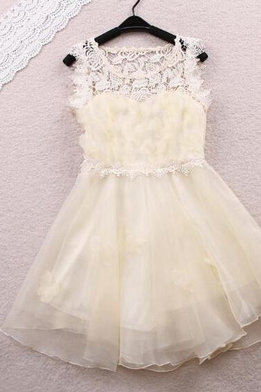 Sweet lace sleeveless dress FG12209JK