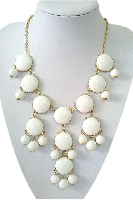 Casual teen cool white beaded young girl necklace