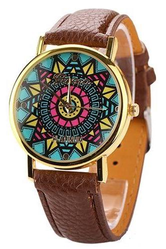 Vintage retro hippie party Woodstock party brown girl watch