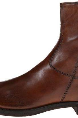 MEN SIDE ZIPPER LEATHER BOOT,MEN ANKLE-HIGH LEATHER BOOT, BROWN LEATHER BOOTS