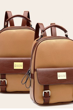 Retro Elegant College Backpack