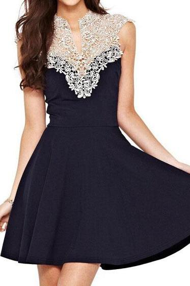 Elegant lace halter dress WE12715OP