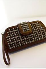 The new female bag hand bag rivet small box chain bag single shoulder bag