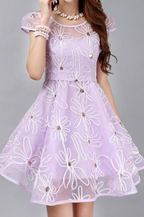 Fashion Organza Embroidered Dress