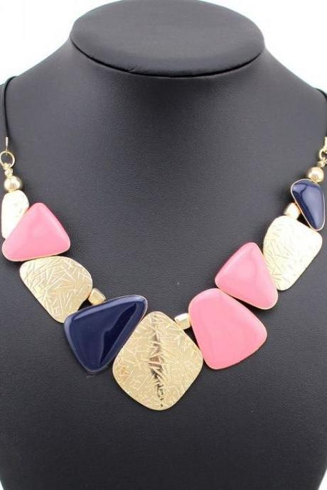 Antic style pink friend gift woman fashion necklace
