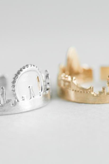 London ring, Cityscape ring, adjustable ring