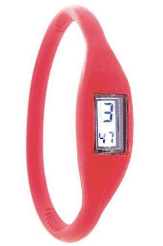 Digital red rubber fashion cool teenage girl watch