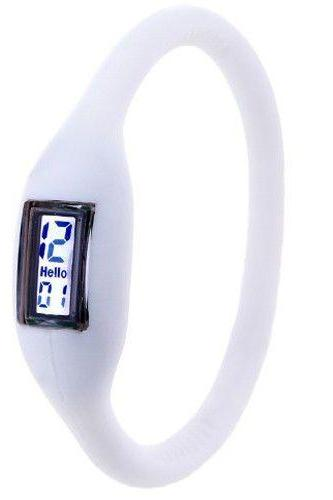 Digital white rubber fashion cool teenage girl watch