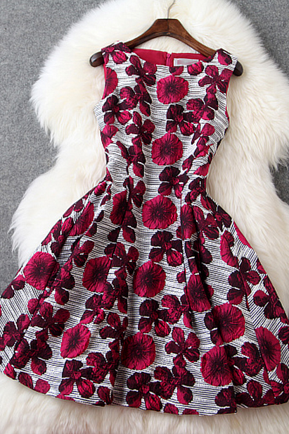 Elegant embroidered waistcoat dress AX13018ax