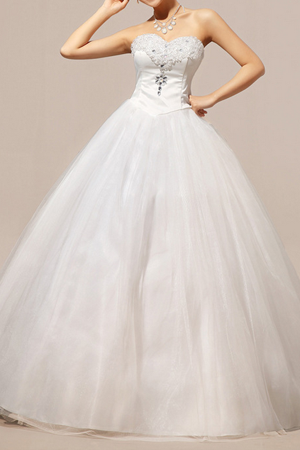 The New 2015 Wedding Dress The Crystal That Wipe A Bosom Han Edition Dress