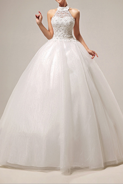 Wedding Dresses 2015 New Sweet Princess Grace Hanging Neck Wedding Dress