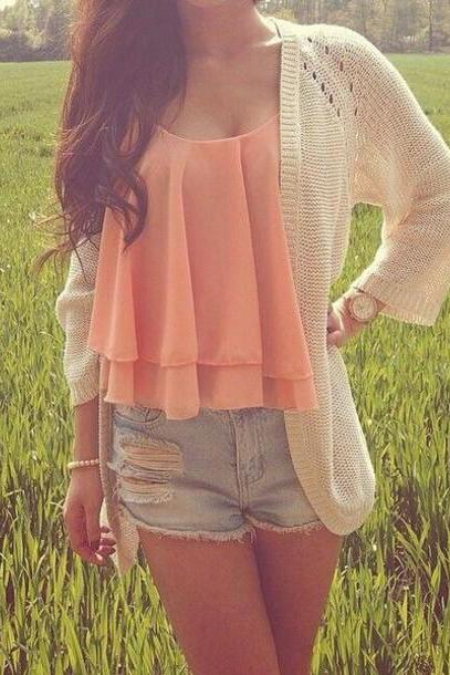 High Quality Pretty Chiffon Tank Top, Top, Tops