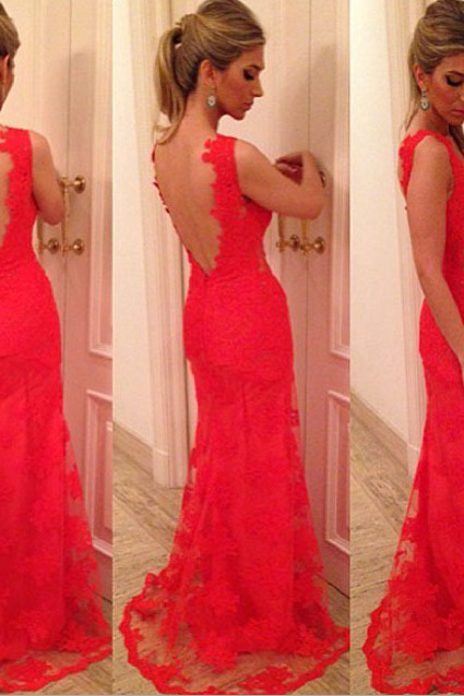 Red Backless Prom Dresses on Luulla