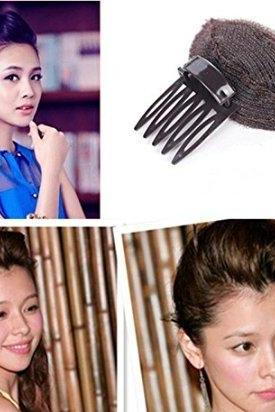 Black/brown Charming Pompadour Fringe Bump It up Volume Inserts Do Beehive Hair Styler Clip Stick Comb Insert Tool Magic Hair Base Comb Hair Accessories