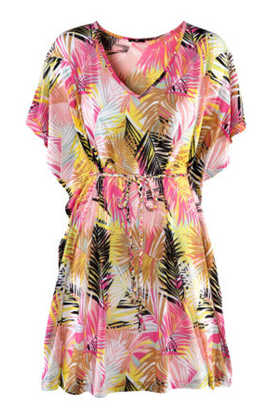 Tropical Printed Beach Swimsuit Cover Up