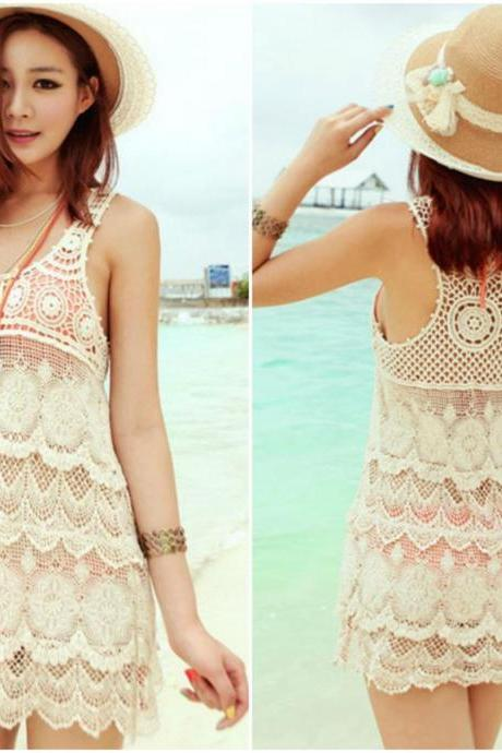 Elegant Lace Swimsuit Beach Cover Up