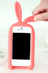 new Fashion Rabbit Storage Silicone Case For Iphone 4/4S/5