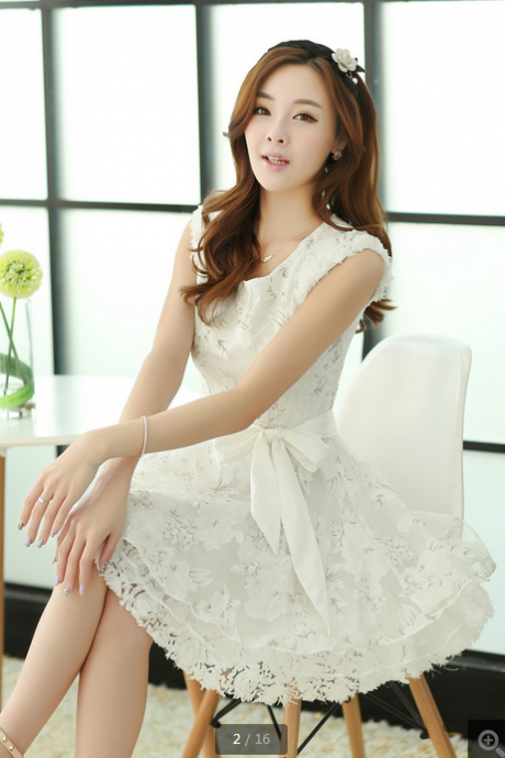 Organza lace sleeveless dress tutu