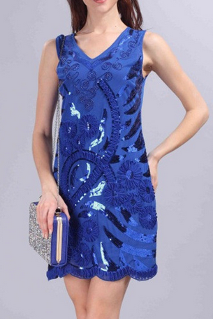 The 2015 in Europe and the elegant flowers sequins lace dress dress
